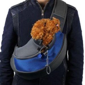 Bolsa bandolera para trasportar perros