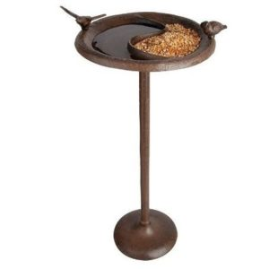 Comedero para pájaros Esschert con base de hierro