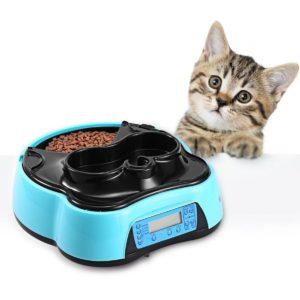 Comederos automáticos para gatos con forro y carcasa
