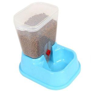 Comederos automáticos para gatos en color azul