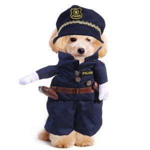 Disfraz de policía para gatos