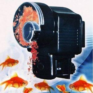 Dispensador de comida compacto para acuarios