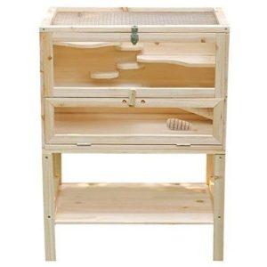 Jaula de madera para cobayas