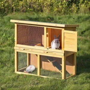 Jaula para conejos de madera exterior