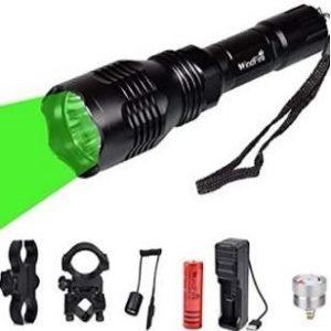 Linterna de caza con luz verde WindFire