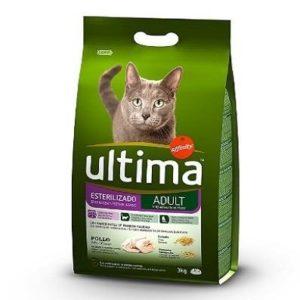 Piensos para gatos esterilizados Ultima con pollo