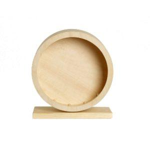 Rueda de hámster de madera