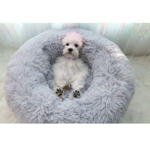 Sofá para perros con felpa