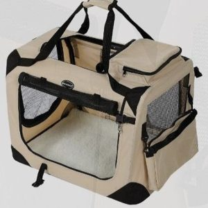 Transportín plegable para perros tela Oxford Songmics